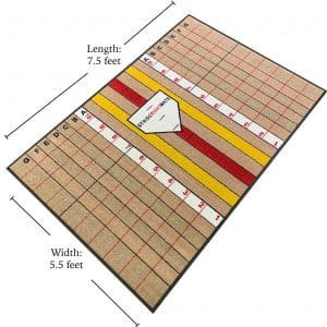Advanced Hitter Dimensional Batting Mat on Flat Ground with Training Lines