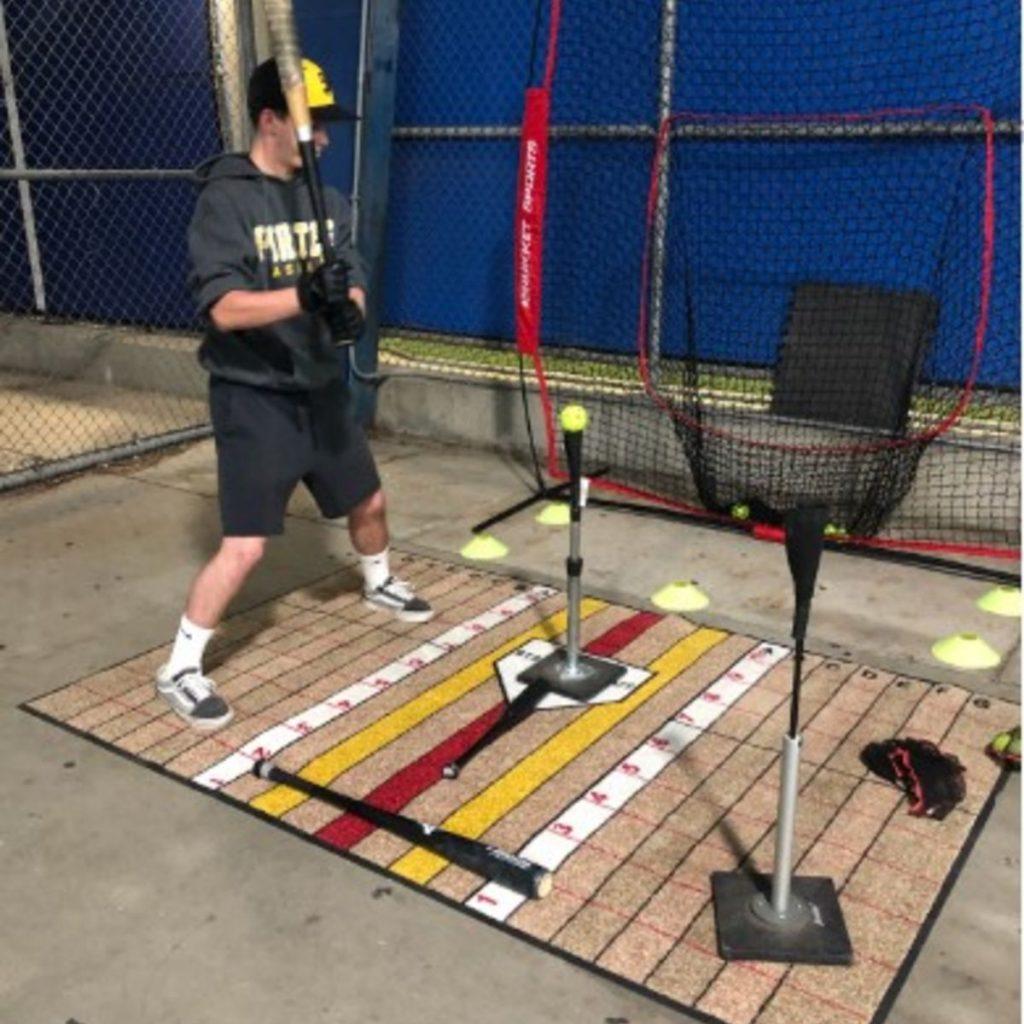 Advanced Hitter Batting Training Mat on Hard Cement