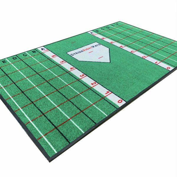 Baseball Softball Hitting Batting Mat | Dual Purpose Instructional Setup, Stance, Stride & Swing Training & Batting Mat | Youth Batter | Stride Right Mats