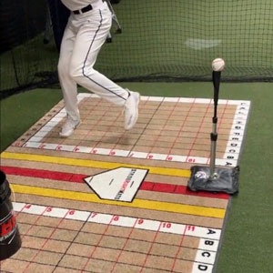 Elite Hitter Batting Stance Mat Plus Swing Trainer_Stride Right Mats