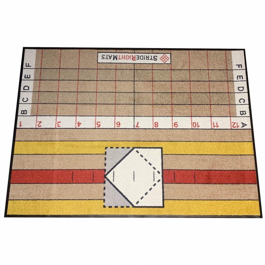 Advanced Hitter Single Box Baseball _ Softball Training Mat Resersed_StrideRightMats.jpg