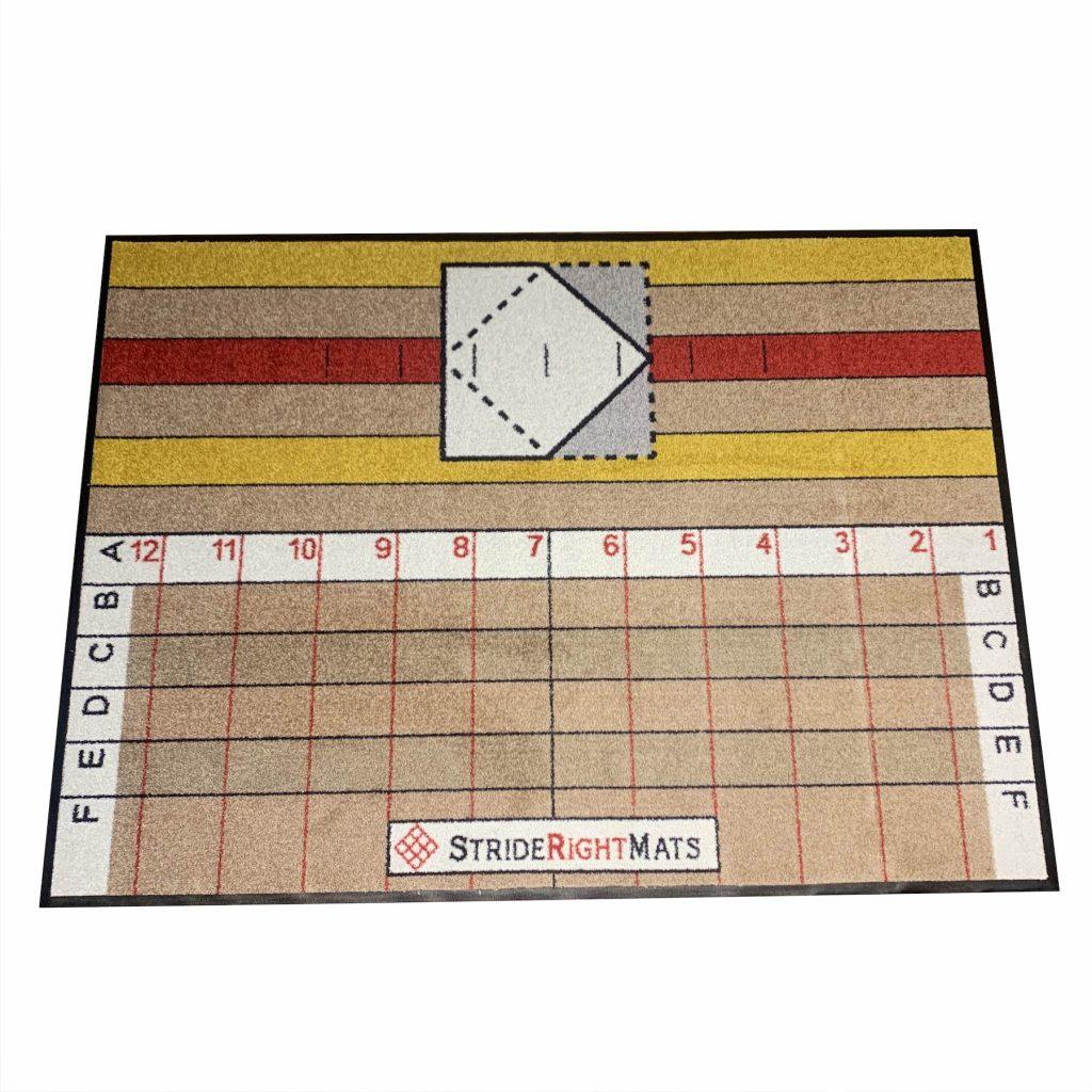 Advanced Hitter Single Box Baseball _ Softball Training Mat Side_StrideRightMats.jpg