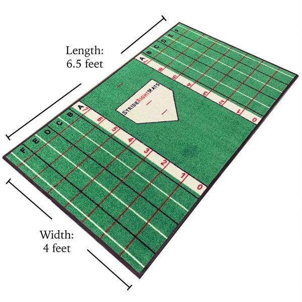 Stride Right Mats Beginning Hitter Batting Mat with Grid System plus Dimensions