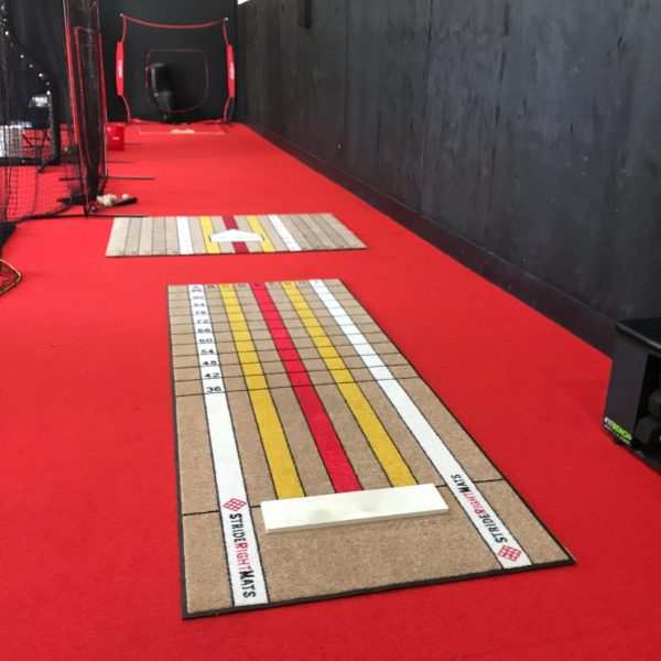 Elite Pitcher Pitching Mat on Turf with Advanced Hitter Batting Mat