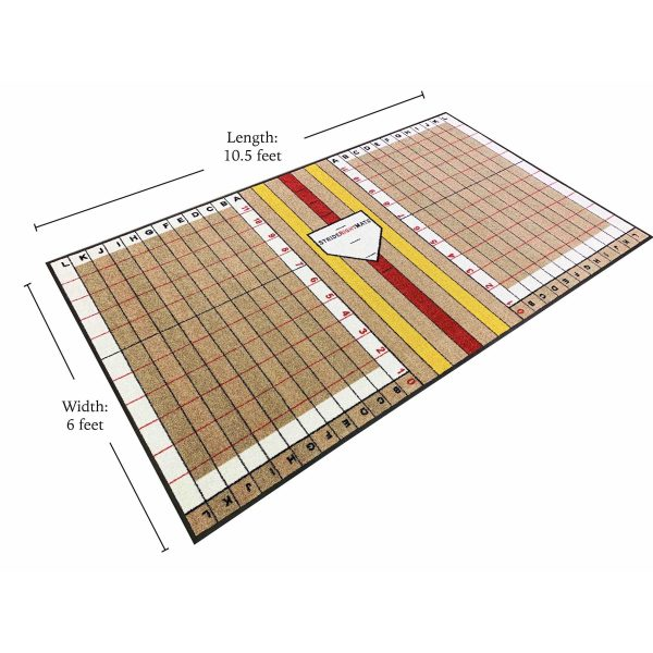 Elite Hitter Batting Mat with Grid System and Stride Lines