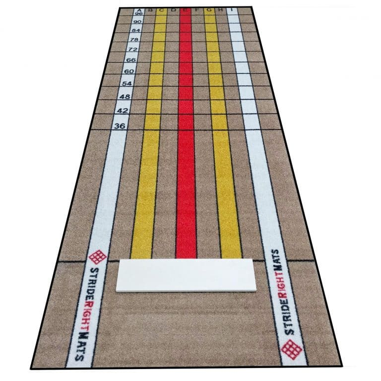 Advanced Pitching Mat with Stride Lines and Regulation Pitching Rubber Flat Image