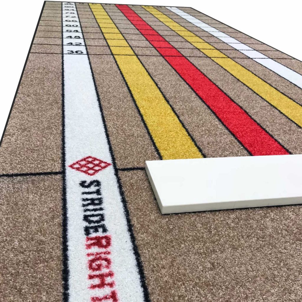 Advanced Pitching Mat with Stride Lines Horizontal
