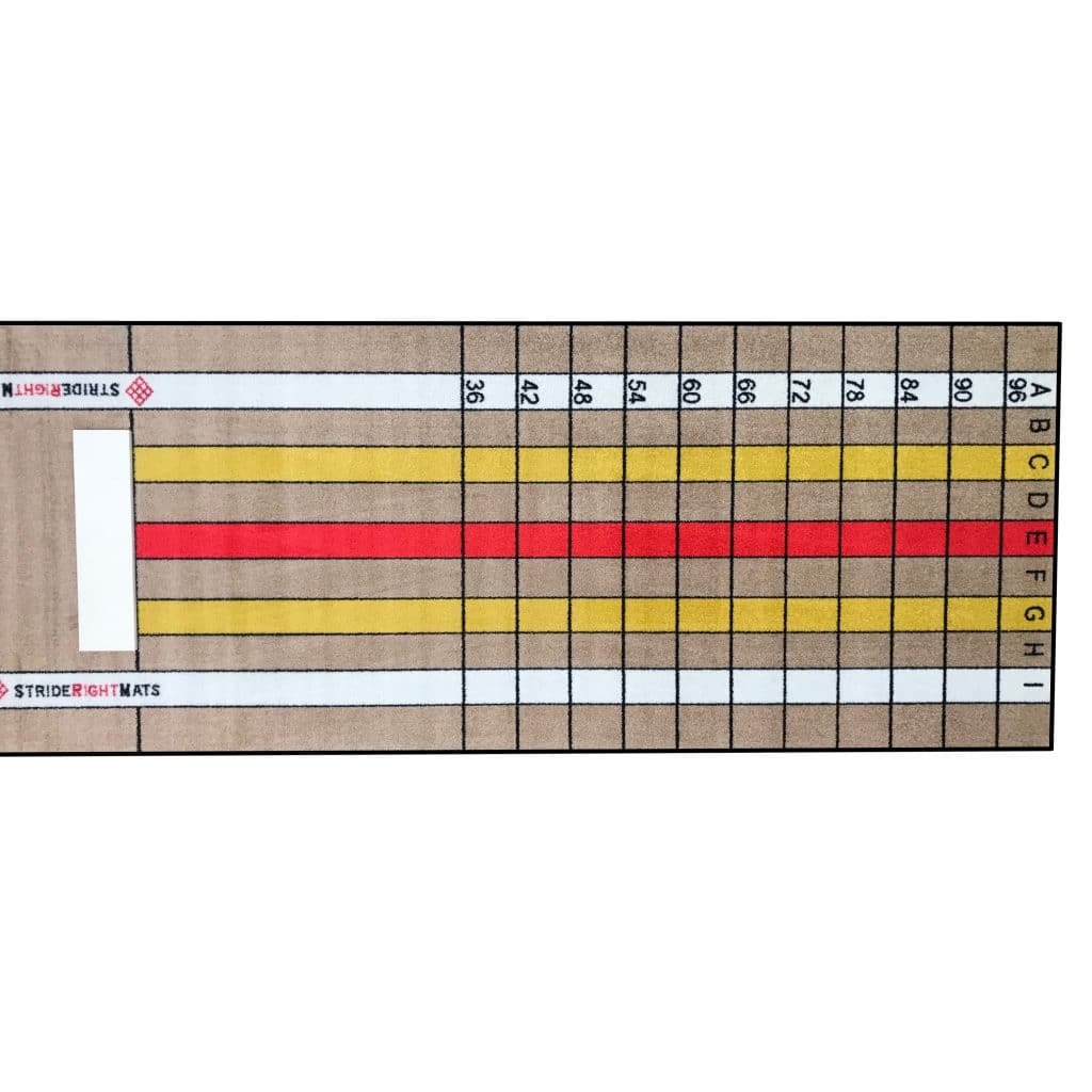 Pitching Mat with Stride Lines Horizontal