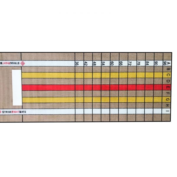 Baseball/Softball Dual Purpose Instructional Pitching Mat | Mound Overlay Stance & Stride Throwing Trainer with Power Lanes & Pitching Rubber | Advanced Pitcher | Stride Right Mats
